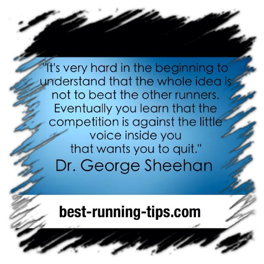 great quote from dr george sheehan