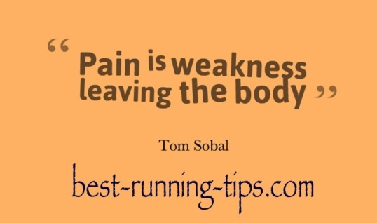 pain is weakness....