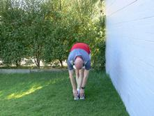 Running Stretches Toe Reaching Crossed Legs