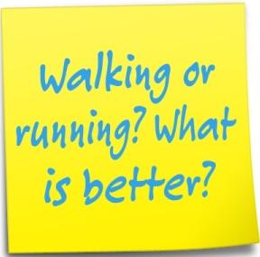 walking vs running
