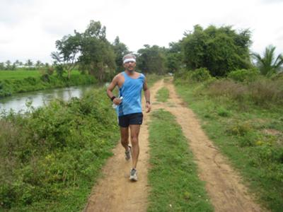 Running the Cauvery River Trail - India