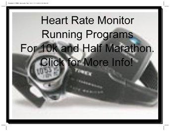 heart rate monitor running programs