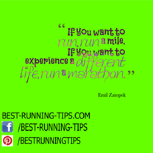 famous quote from Emil Zatopek